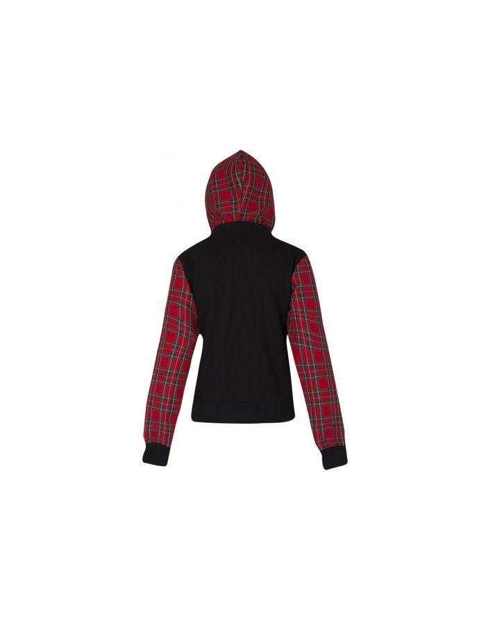 Black & Red Tartan Hoodie