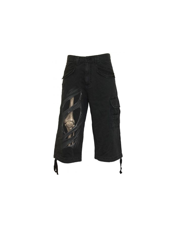 Spiral BONE RIPS Vintage Three Quarter Cargo Pants Shorts
