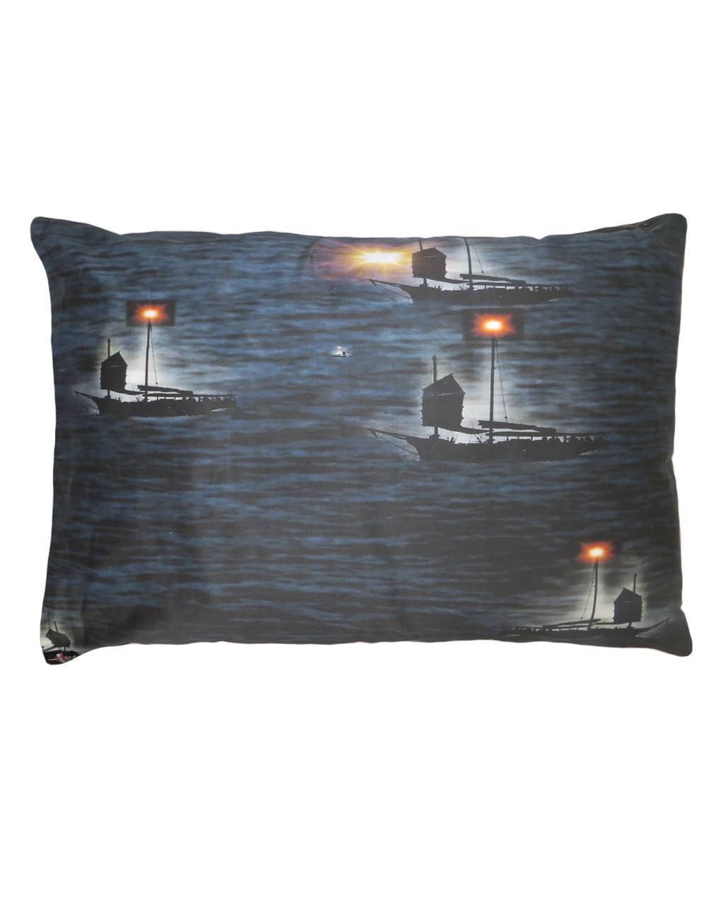 Beautiful Fantasy Castle On The Cliffs Sailing Boats Printed Pillowcase