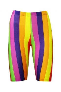 Funky Multicoloured Rainbow Vertical Stripes Cycle Shorts