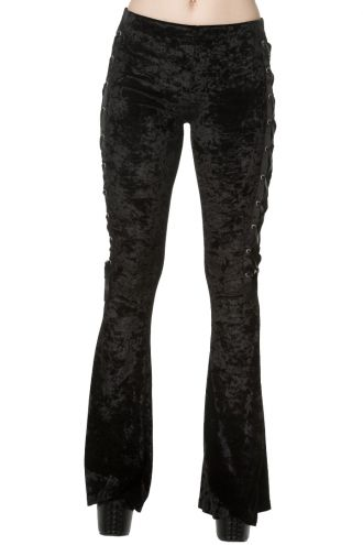 Banned Gorgeous Gothic Velvet Corset Style Flared Halloween Trousers