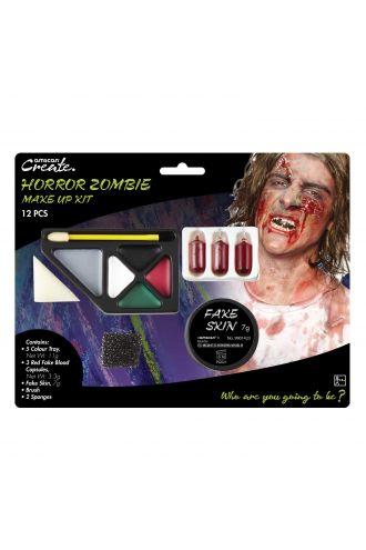 Halloween Zombie Horror Blood Capsule Fake Skin Face Paint Make Up Kit 12 PCS
