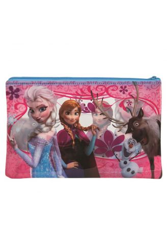 Disney Frozen Zip Up School Large Pencil Case