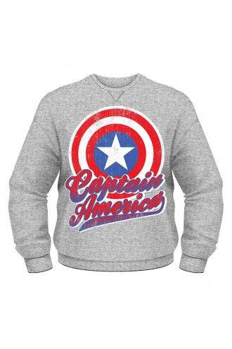 Marvel Avengers Assemble Captain America Graphic Unisex Sweatshirt Jumper