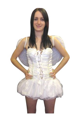 Sexy White Fairy Angel Fancy Dress Costume