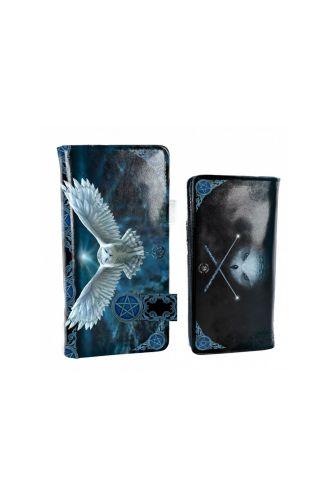 Magical Fantasy Awaken Your Magic Snow Owl Purse Wallet