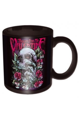 Official Bullet For My Valentine Red Eyes Skull Mug