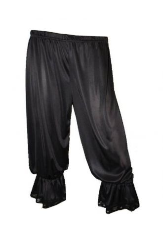 Black Steampunk Fancy Dress Long Bloomers