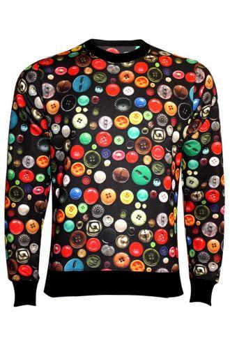 As Cute As A Button! Sweatshirt Jumper Top