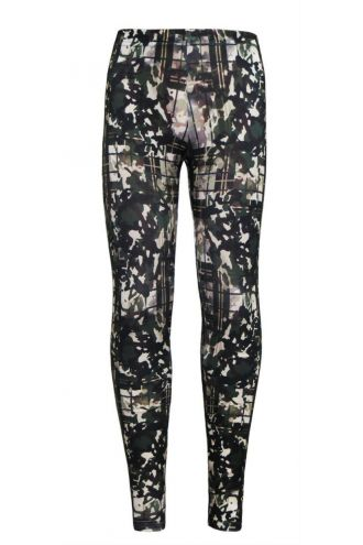 Girl's Children's Military Camouflage Tartan Printed Leggings