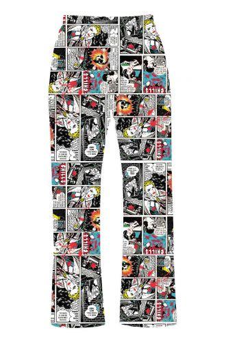 Comic Retro Pop Art Strip Book Classic Printed Loungewear Sleepwear Pyjama Bottoms