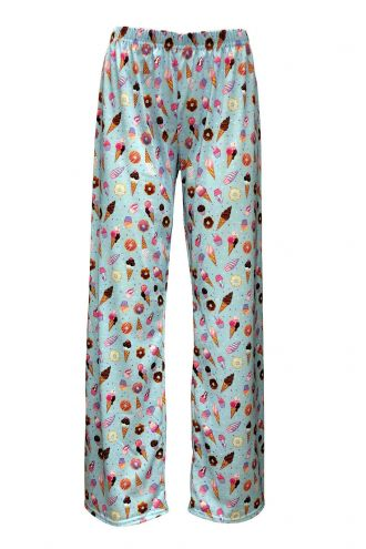 Cute Cupcakes Ice Cream Donuts Printed Loungewear Sleepwear Pyjama Bottoms Pants