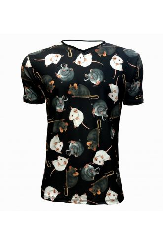 Cute Mouse Rats Animal Pets Lovers Printed Men's V-Neck T-Shirt Tee