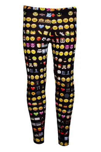 Unique Emoties Emoticons Smiley Faces Girls Print Leggings