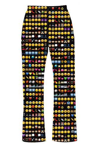 Emoji Smiley Emoticon Icons Alternative Printed Loungewear Sleepwear Pyjama Bottoms Pants