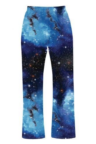 Blue Galaxy Planets Cosmos Space Printed Loungewear Sleepwear Pyjama Bottoms
