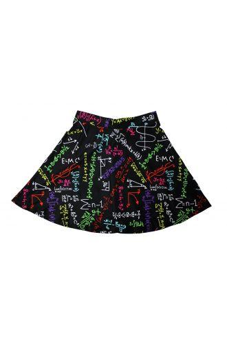 Maths Formulas Blackboard School Print Skater Skirt