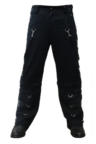 Men's Unique Black X-Chains Bondage Baggy Skater Trousers Pants Goth Punk Emo