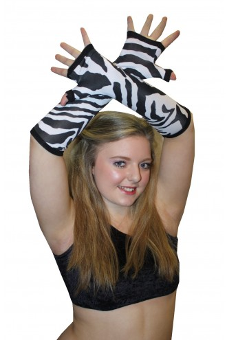 Black And White Original Zebra Animal Gloves