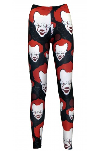 Scary Killer Clown Joker Evil Horror Halloween Print Leggings