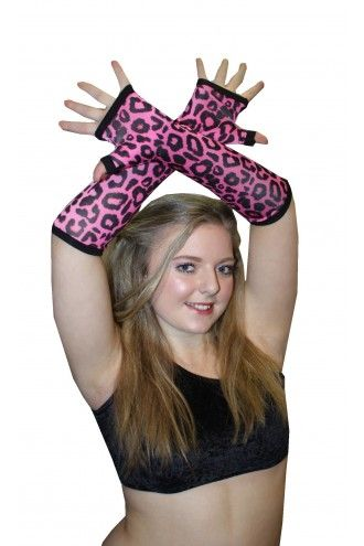 Pink And Black Leopard Animal Gloves