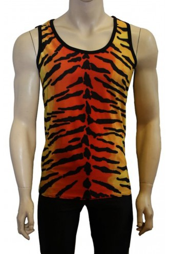 Men's Unique Original Tiger Animal Print Vest Top