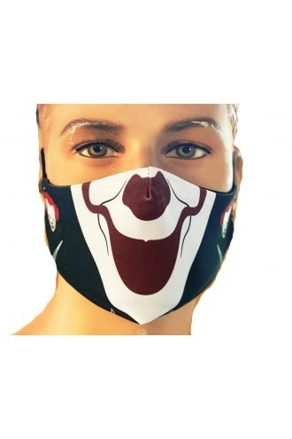 Scary Killer Clown Joker Evil Horror Printed Reusable Washable  Face Covering Masks