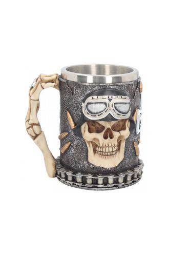 Iron Cross Skull Gothic Maltese Tankard Mug