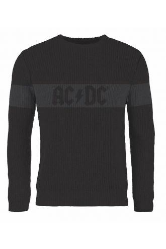 Official AC/DC Logo Crew Neck Knitted Jumper