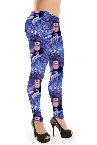 Unique Space Cyber Gaming World Graphics Man Design Printed Leggings