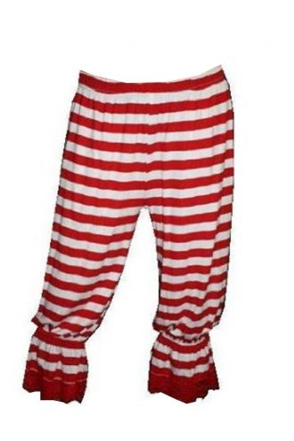 Red And White Stripes Striped Long Bloomers