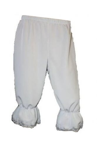 White Steampunk Fancy Dress Long Bloomers