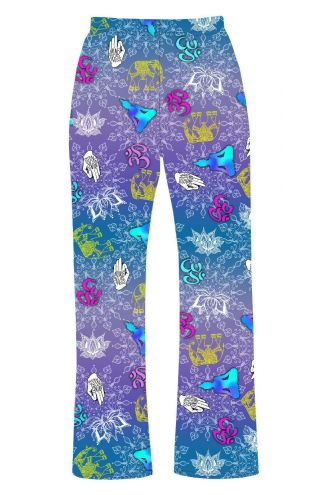 Lotus Flower Buddhist Mindfulness Om Symbol Elephant Yoga Printed Loungewear Sleepwear Pyjama Bottoms