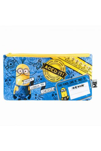 Minions Despicable Me Zip Up School Pencil Case/ Make-up Case