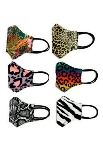 Unisex Tropical Leopard Zebra Snake Animal Skin Printed Reusable Washable Face Covering Masks