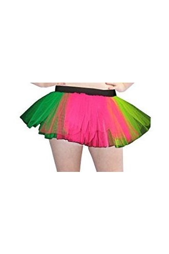 Rainbow Neon-UV Children's/Kids Tutu Skirt