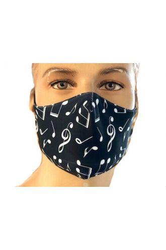 Unique Musical Notes Symbols Signs Print Reusable Washable Face Covering Masks