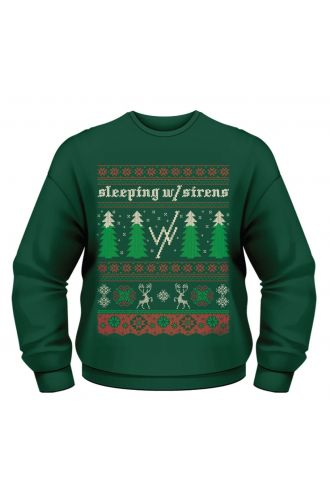 Official Sleeping With Sirens Festive Christmas Trees Unisex Sweatshirt Jumper
