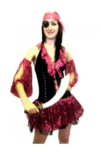 Pink Glitter Fancy Dress Costume