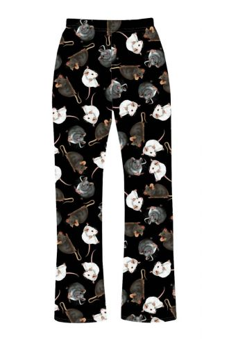 Cute Mouse Rats Printed Loungewear Sleepwear Pyjama Bottoms Pants
