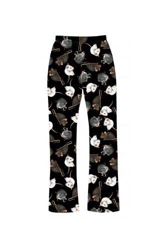 Cute Mouse Rats Printed Loungewear Sleepwear Pyjama Bottoms Pants