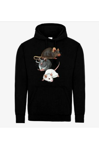 Cute Mouse Rats Animal Pets Lovers Pull Over Fleece Hoodie