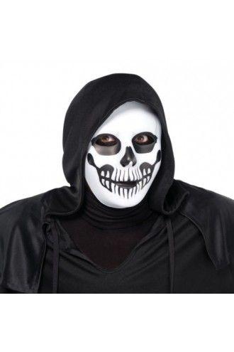 Black & Bone Skull Death  Skeleton Horror Scary Mask Halloween Accessory