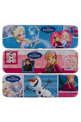 Disney Frozen Queen Elsa Olaf Anna Metal Pencil Case 3 Designs