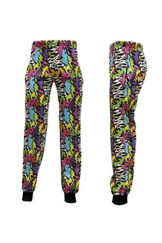 Unisex Zig Zag Waves Geometric Abstract Trippy Fleece Printed Sweatpants Jogging Bottom