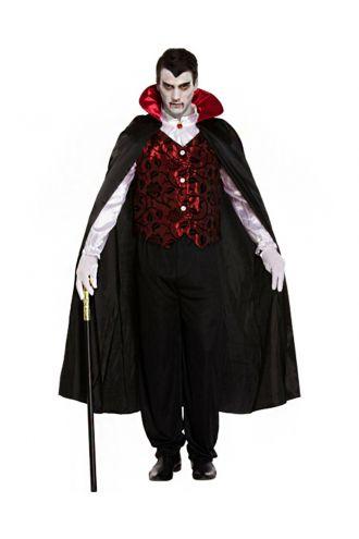 Men's Deluxe Vampire Adults Halloween Fancy Dress Costume