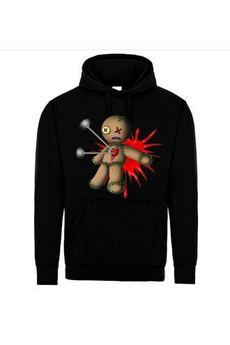 Gothic Voodoo Doll Pull Over Unisex Fleece Hoodie