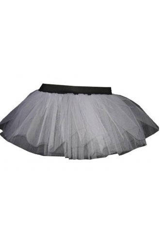 White Neon-UV Children's/Kids Tutu Skirt