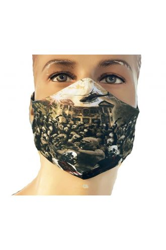 Zombies Blood Outbreak Cars Helicopter Flesh Printed Reusable Washable Face Covering Masks