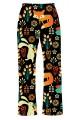 Floral Fox, Rabbit, Hedgehog Animal Nature Print Loungewear Sleepwear Pyjama Bottoms Pants